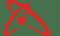 Collision centered logo